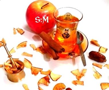 چای سیب تازه
